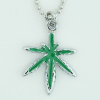 Marijuana mix necklace