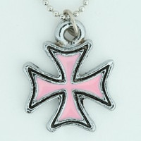 Herocross pink-black mix necklace