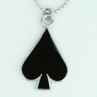 Ace of spades mix necklace
