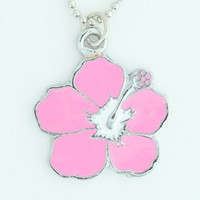 Hibiscus pink mix necklace