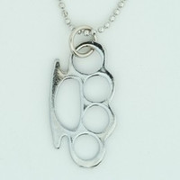 Punch silver mix necklace