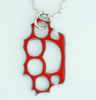 Punch red mix necklace