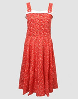 Front - Stars red bobelina dress