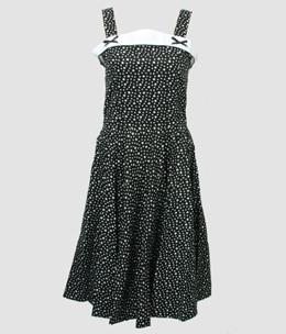 Front - Stars black bobelina dress