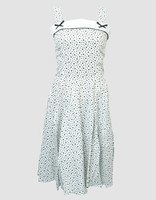 Front - Stars white bobelina dress