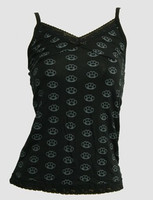 Front - L punch black-grey top lace top
