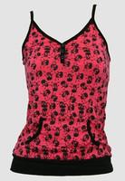 Front - Skull big pink-black top pocket top