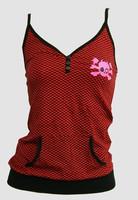 Front - Check black-red / skull star top pocket top