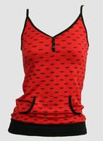 Front - Bat red-black top pocket top