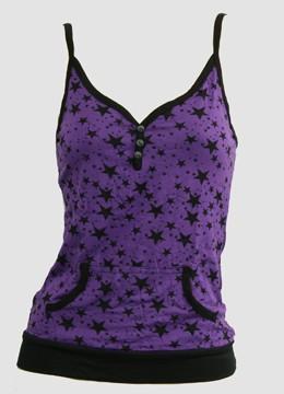 Front - P 3 stars purple top pocket top