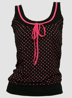 Front - Star basic black-pink top fashion top