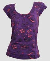 Front - Diva purple top fashion top