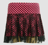 Check pink punk mini skirt