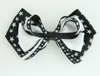Star mix black-white big hair clips piece