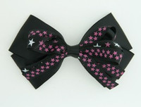 Plain star black-purple big hair clips piece