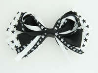 Star mix white-black big hair clips piece