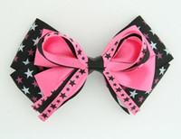 Star mix black-pink big hair clips piece