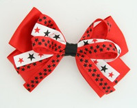 Plain star red big hair clips piece