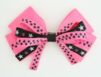 Plain star pink big hair clips piece