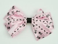 Skull L pink big hair clips piece