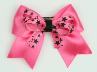 Star D pink / D pink-black star cute clean