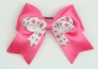 Star D pink / white-pink star cute clean