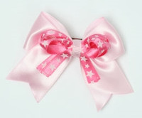Star L pink / D pink-white star cute clean