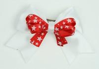 Star white / red-white star cute clean