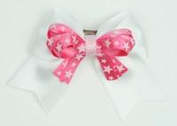 Star white / D pink-white star cute slean