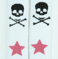 Skull star white-pink skull color skull
