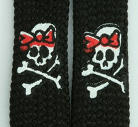 Cute skull lace black-red skull color skull