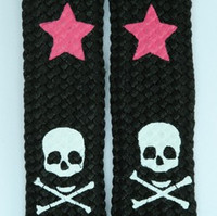 Skull star black-pink skull color skull