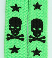 Skull V star green skull color skull