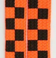 Check orange L check shoelace