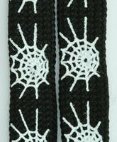 Spiderweb lines black-white animal shoelace