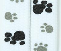 Steps white-grey-black animal shoelace