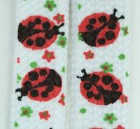 Ladybird white animal shoelace