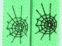 Spiderweb lines green animal shoelace