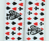 Poker ace white mix shoelace