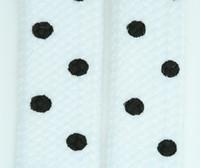 Dot white-black mix shoelace