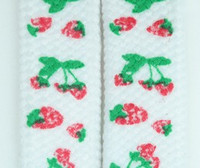 Strawberry S white mix shoelace