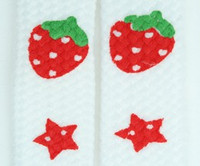 Strawberry star white-red mix shoelace