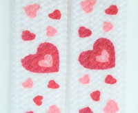 Hearts white-pink mix shoelace