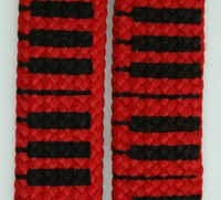 Piano red mix shoelace