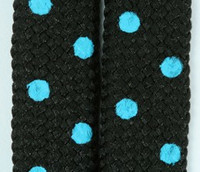 Dot black-blue mix shoelace