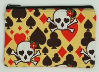 Skull new yellow mix cosmetic bag