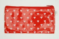 Heart red mix cosmetic bag