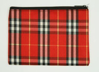 Scotch red mix cosmetic bag