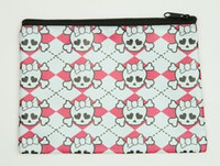 Cute Sk white-pink mix cosmetic bag