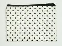 Dot white-black mix cosmetic bag